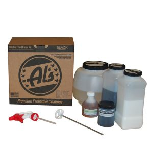 Al's Liner ALS-BL Black Premium DIY Polyurethane Spray-On Truck Bed Liner Kit