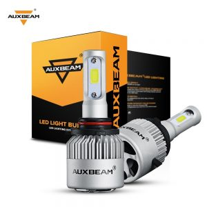 Auxbeam LED headlights 9005 HB3 H10 9145 F-S2 Series 9005 LED Headlight Bulbs with 2 Pcs LED Bulbs Conversion Kits 72W 8000LM Bridgelux COB Chips Fog Light