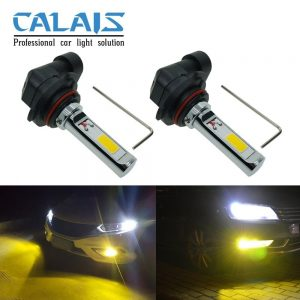 Calais Extremely Bright LED 9005 HB3 COB Chips 30W Yellow Color LED Fog Lights Bulbs Plug-n-Play(pack of 2)