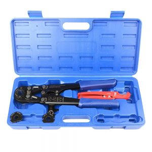"IWISS® F1807 PEX Pipe Crimping Tool Kit for 3/8"",1/2"",3/4"",1"" Copper Ring with Free Gauge&Pex Pipe Cutter suits Sharkbite,Watts,Apollo and All US F1807 Standards"