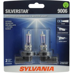 SYLVANIA 9006 SilverStar High Performance Halogen Headlight Bulb, (Contains 2 Bulbs)