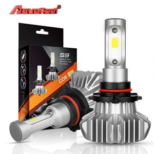 LED Headlight Bulbs 9005(HB3), Autofeel 5000LM Waterproof IP68 Super Bright Car Exterior White Light Built-in Driver Lamp All-in-One Conversion Bulb Kit Fog Light with Cool White Lights