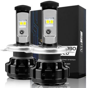 NINEO H4 LED Headlight Bulbs, CREE Chips, 9003 Hi/Lo beam Cool White Conversion Kit 6000K 7,200Lm - 3 Yr Warranty