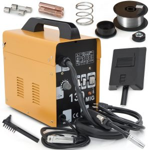 ARKSEN | MIG-130 | Welding Machine | Gas Less | Flux Core | Wire Welder | Automatic Feeding | Yellow