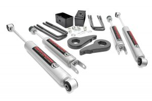 Rough Country - 28330 - 1.5-2-inch Suspension Leveling Lift Kit w/ Premium N3 Shocks